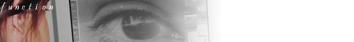 header image, a close up of Anne Dara's eye